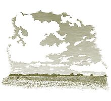 Woodcut Cloud Scene by blue67sign