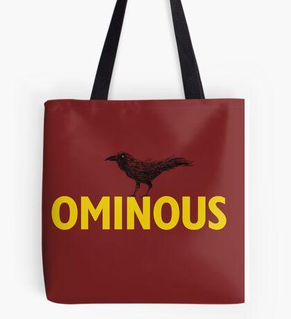 Ominous Crow Tote Bag