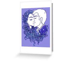 Lavender Snow Greeting Card