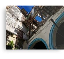Cuba - Old Havana - crumbling catwalks in use Metal Print