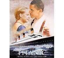 Obama and Merkel in Titanic Photographic Print