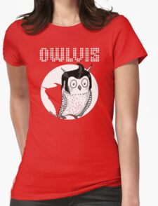 Owlvis - Owl illustration  Womens Fitted T-Shirt