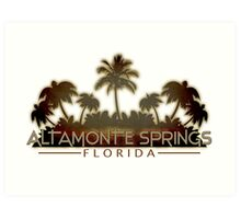 Altamonte Springs Florida palm tree design Art Print
