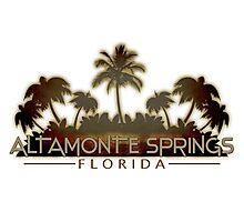 Altamonte Springs Florida palm tree design Photographic Print