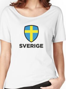 National flag of Sweden Women's Relaxed Fit T-Shirt