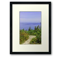 The Path To Purple Framed Print
