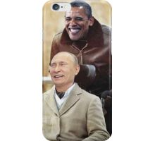 """Putin And Obama in """"Les Intouchables"""" iPhone Case/Skin"""