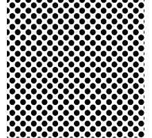 White with Black Dots small Photographic Print