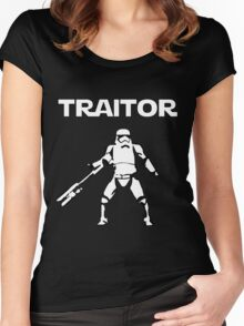 Star Wars TRAITOR (Star Wars font) Women's Fitted Scoop T-Shirt
