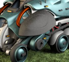 Futuristic Hazardous Materials Transport Vehicle Sticker