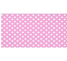 Pink and Small White Dot Photographic Print
