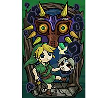 Majora's Mask in Wind Waker Style Photographic Print