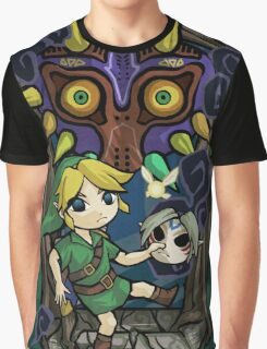 Majora's Mask in Wind Waker Style Graphic T-Shirt