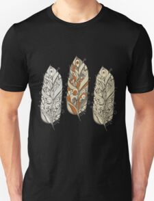 Girly Abstract Feathers Pattern T-Shirt