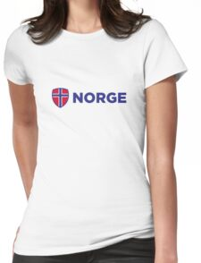 National Flag of Norway Womens Fitted T-Shirt