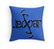 """Edgar"" Ambigram (reversible image) Throw Pillow"