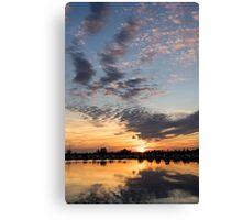 Smoky Apricot Sunset Canvas Print