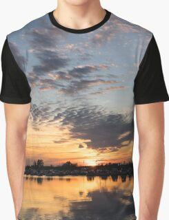Smoky Apricot Sunset Graphic T-Shirt