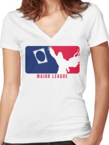 MTG Major League Women's Fitted V-Neck T-Shirt