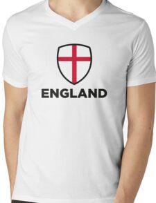 National flag of England Mens V-Neck T-Shirt