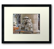 Bust of St Damiaan,  Church of Our Lady, Aarscot, Belgium Framed Print