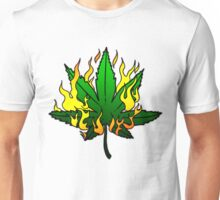 Weed on Fire Unisex T-Shirt