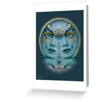 Gemini Full Moon   Greeting Card