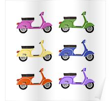 Vespa Colors I Poster