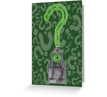 Riddlers Trophy Greeting Card