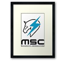 Metal Gear Rising - Maverick Security Consulting Framed Print