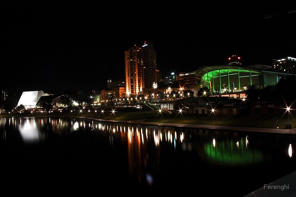 Adelaide's Riverfront by Night by Ferenghi