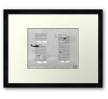 WW2 Warbirds part3 Framed Print