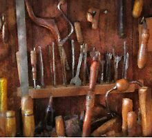Woodworker - Old tools by Mike  Savad