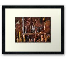 Woodworker - Old tools Framed Print