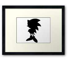 Classic Sonic Silhouette 2 Framed Print