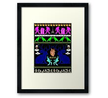 Eerie, Indiana ugly Christmas sweater Framed Print