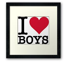 I love guys Framed Print