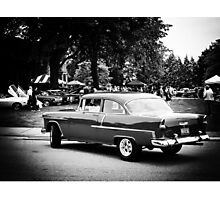 Black and White - Chevy, making an entrance (2011) Photographic Print