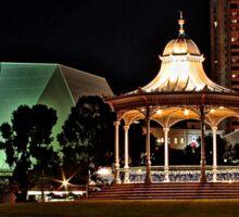 Adelaide's Elder Park Rotunda at night Sticker