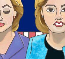 Hillary Clinton at Bedtime Sticker