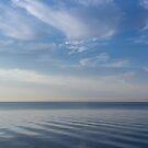 Blue Serenity - Soft Waves and Brushstrokes by Georgia Mizuleva
