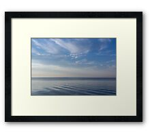 Blue Serenity - Soft Waves and Brushstrokes Framed Print
