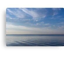 Blue Serenity - Soft Waves and Brushstrokes Canvas Print