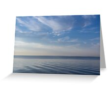 Blue Serenity - Soft Waves and Brushstrokes Greeting Card