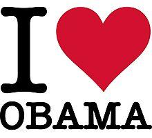I Love Obama Photographic Print