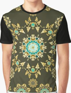 Gold pattern Graphic T-Shirt
