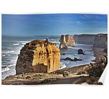 Twelve Apostles in morning light, Victoria, Australia Poster