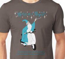 Merlin On A Moped Unisex T-Shirt