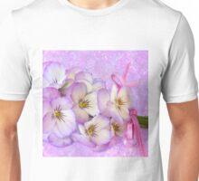 Ribboned Pansies  Unisex T-Shirt