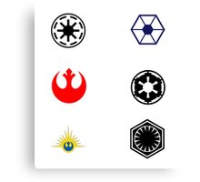 Star Wars Factions Canvas Print